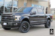 XD Bomb black/milled mounted with Nitto Terra  Grappler G2 tires and level kit on a 2015 F150 FX4.