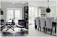 Inspire yourself: Black and White Living Rooms | UNIQUE http://www.delightfull.eu/