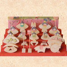円びな五段飾り(特製垂幕)