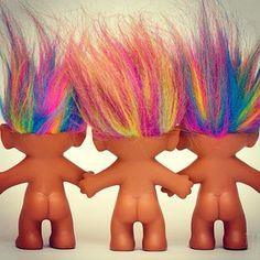 Naked trolls black hair