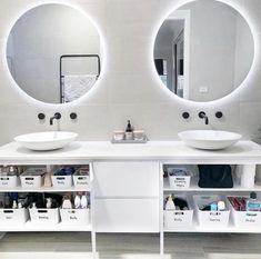 Trendy Home Organization Bathroom Cupboards Ideas Bathroom Cupboards, Ikea Bathroom, Bathroom Spa, Bathroom Cleaning, Bathroom Storage, Bathroom Ideas, Ikea Storage, Bathroom Goals, Storage Hacks