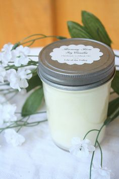 Lily of the Valley Soy Wax Candle in 8 oz by HarmonyFarmCandles, $9.00