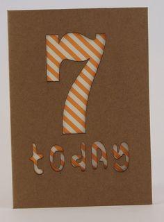 Birthday Card Age 7 £2.50