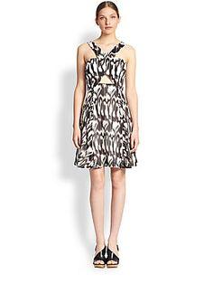 Trina Turk Bellicity Cotton/Silk Crossover Dress