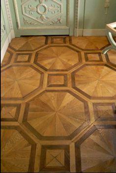 stenciled floor love it