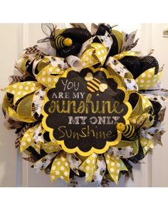 You Are My Sunshine / Bumblebee Wreath | CraftOutlet.com Photo Contest