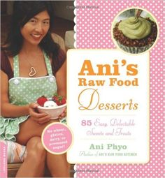 "Ani's Raw Food Desserts: 85 Easy, Delectable Sweets and Treats: With lists of essential tools, key ingredients (including ""superfoods"" that enhance flavor and nutrition), full-color photos, and gorgeous design, Ani's Raw Food Desserts proves you don't have to sacrifice taste or style to reap the benefits of raw foods."
