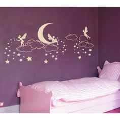 """Style and Apply Elfin Magic Wall Decal Size: 37"""" H x 79"""" W, Color: Dark Red"""