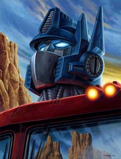 Optimus Prime & Megatron Transformers Prints by Jason Edmiston Jason Edmiston, Transformers Optimus Prime, Transformers Cybertron, Geek Art, Cultura Pop, Art Store, Illustration, Anime, Cool Art