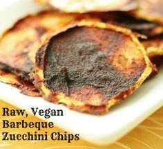 raw vegan zucchini barbeque chips