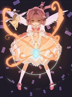 Cardcaptor Sakura | CLAMP | Madhouse / Kinomoto Sakura and Keroberos (Kero-chan) / 「カードキャプターさくら」/「ウルエ」のイラスト [pixiv]