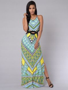4f2254f8dbd US  8.4500 LE6398-2 Waist hollow printing Long dress Work Dresses For Women