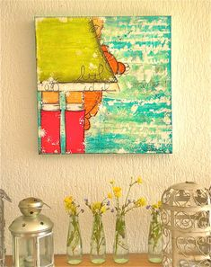 Jamais sans son doudou  Peinture original Mixed Media par Shirel, €120,00