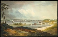 William Guy Wall (Irish, 1792–after 1864 Ireland). New York from the Heights near Brooklyn, ca. 1820–23. The Metropolitan Museum of Art, New York. The Edward W. C. Arnold Collection of New York Prints, Maps, and Pictures, Bequest of Edward W. C. Arnold, 1954 (54.90.301) #newyork #nyc