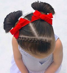 I love cute buns on beau ! 💕💕💕💕💕💕💕💕 Inspired by and Hope you like 💕♥️💕♥️ Cute Toddler Hairstyles, Cute Little Girl Hairstyles, Cute Girls Hairstyles, Kids Braided Hairstyles, Toddler Hair Dos, Mixed Baby Hairstyles, Princess Hairstyles, Natural Hairstyles, Braids For Kids