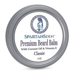 Spartans Den Premium Beard Balm For Men Coconut Oil Vitamin E Infused Best Conditioner For Grooming Growth Soften Itch Tame Classic Scent -- You can find more details by visiting the image link. Best Beard Wash, Best Beard Shampoo, Coconut Oil For Acne, Organic Coconut Oil, Beard Conditioner, Shampoo And Conditioner, Beard Softener, Beard Butter, Oil Shop