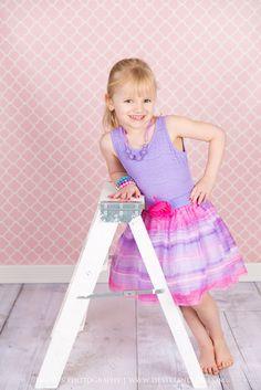 Pink Quatrefoil Photography Backdrop
