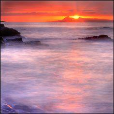 The Isle of Eigg, Sunset from Glenuig, UK