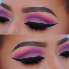 Pink and purple cut crease ♢