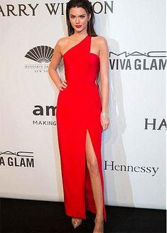 Elegant Chiffon One Shoulder Neckline Slit Ankle-length Sheath Formal Dresses