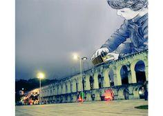 Trazo - christopher - produz ilustrações digitais em cima de fotos do Rio de Janeiro.
