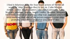 The cast of Merlin and their desired pairings. CAN WE TALK ABOUT HOW KATIE AND ANGEL SHIP MERTHUR