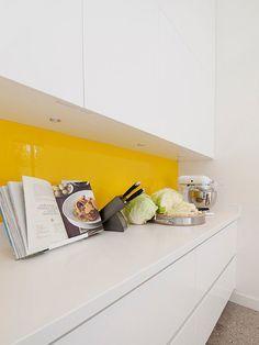 A yellow glass backs