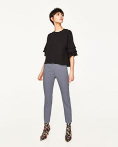 ZARA - WOMAN - FRILLY SLEEVE TOP