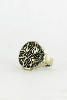 Marche Noir Celtic Cross Ring
