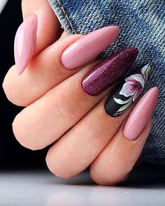 If you are searching for cute nail colors for spring and beautiful spring nail designs then check our Stylish nails especially Floral nails and butterfly nails. Spring Nail Colors, Spring Nail Art, Nail Designs Spring, Maroon Nail Designs, Cute Nails, Pretty Nails, Ballerina Acrylic Nails, Coffin Shape Nails, Manicure E Pedicure