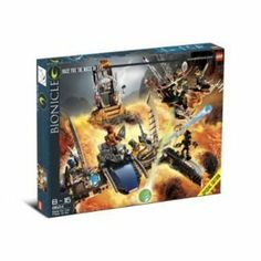 LEGO Bionicle Set #8624 Race for the Mask of Light by LEGO. $59.90. A 2006 Lego production. Set contains 507 pieces including 8 Bionicle mini figures. Exclusive lava. Components made in Denmark, China & the Czech Republic. Set contains 507 pieces including 8 Bionicle mini figures Ages 8 - 16 Released in 2006 Exclusive Lava Surfing vehicles.