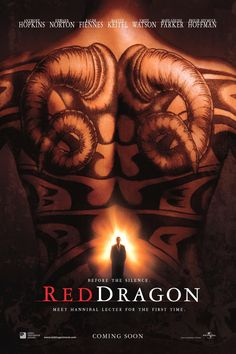 Red Dragon 2002 Hindi Dual Audio BluRay IMDB Ratings: Directed By: Brett Ratner Cast: Anthony Hopkins, Edward Norton, Ralph Fiennes Edward Norton, Will Graham, Hannibal Lecter, Dr Hannibal, Anthony Edwards, Ralph Fiennes, Silver Surfer, Scary Movies, Movie Posters