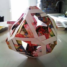 Modular origami cube