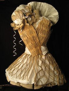"*Paper Sculpture - ""Party Dress"" by SabiiWabii"