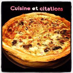 Ma quiche forestière lardons champignons... Toute en légereté ! - Le blog de cuisineetcitations-leblog
