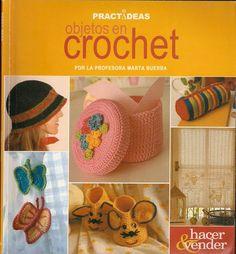 Objetos e ideas Knitting Books, Crochet Books, Crochet Crafts, Free Crochet, Crochet Stitches, Crochet Patterns, Crochet Magazine, Cross Stitch Rose, Book Crafts