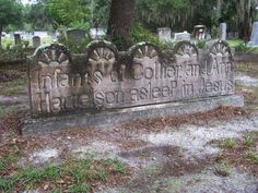 Cemetery, Lakeland, Florida.  It was unusual for the time, for a woman to have multiples in birth, and also why they would not have survived.