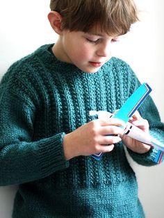 Sam Pullover by Amy Christoffers *Berroco Pattern* Boys Knitting Patterns Free, Baby Cardigan Knitting Pattern Free, Christmas Knitting Patterns, Knitting For Kids, Baby Knitting, Crochet Patterns, Knitted Coat Pattern, Boys Sweaters, Knit Sweaters