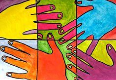 Art Drawings For Kids, Drawing For Kids, Art For Kids, Easy Canvas Art, Easy Canvas Painting, Classroom Art Projects, Art Classroom, Arte Elemental, Jr Art