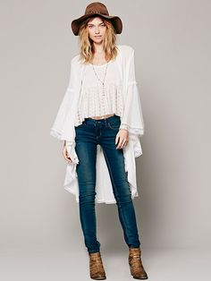 Intimately Laurel Canyon Lace Robe at Free People Clothing Boutique