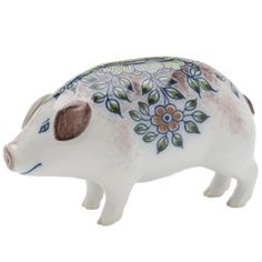 Ceramic Pig @ Royal Tichelaar Makkum (Netherlands oldest company, fine porcelain manufacturer)