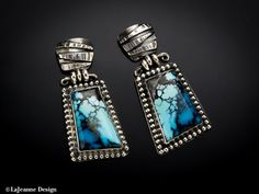 Subdue  Turquoise Sterling Silver earrings by LaJeanneDesign