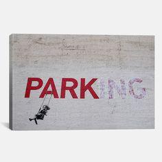 Parking Girl Swing by Banksy Canvas Print - $43.99. https://www.tanga.com/deals/c3e41549dd41/parking-girl-swing-by-banksy-canvas-print