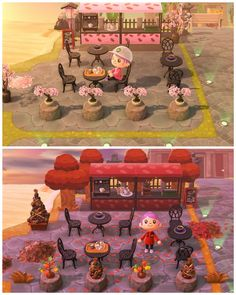 Cherry Blossom Cafe Becomes Autumn Leaf Cafe Animalcrossing New Animal Crossing Animal Crossing Game Animal Crossing Villagers