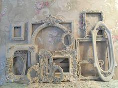 Shabby Ornate Open Frames Antique White~Wedding~Vintage Style~Romantic  Lot 11 #Cottage