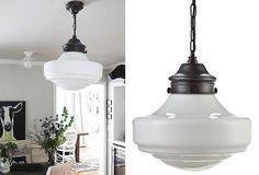 HUGE White Pendant Light - From Antiquefarmhouse.com - http://www.antiquefarmhouse.com/current-sale-events/kitchen5/white-pendant-light2.html