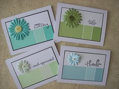 Paint Chip Card Set