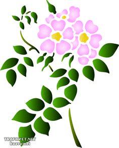 Wildflowers 68. Set om 6 st. • mönsterschablon till design. Grossist av stenciler. • Stencil Decor, Stencil Painting, Fabric Painting, Stencil Patterns, Stencil Designs, Applique Designs, Flower Outline, Floral Drawing, Free Stencils