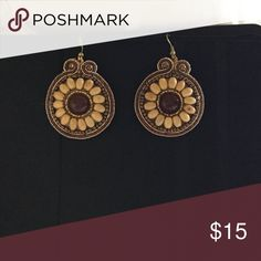 DISCOUNTED 🎉Earrings hand maid in Africa Elegant earth tones and stones. hand made Jewelry Earrings
