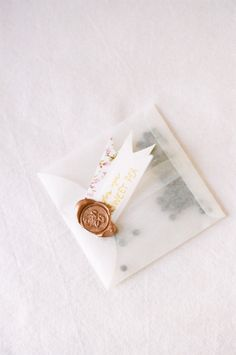 Wax envelope and gold wax seal.